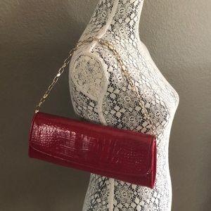 Ann Taylor loft red clutch purse NWT